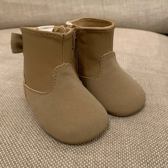Janie Jack Brown Suede Baby Boots With